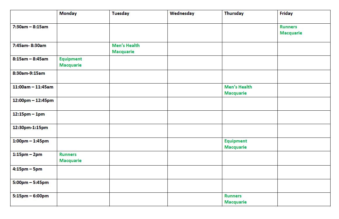 Pilates schedule sydney